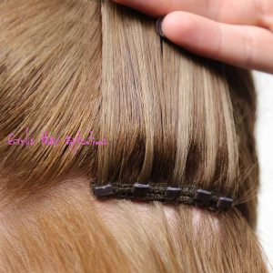 Micro beaded-weft hair extensions